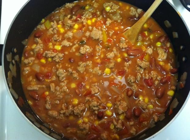 Turkey Chili Taco Soup Finished